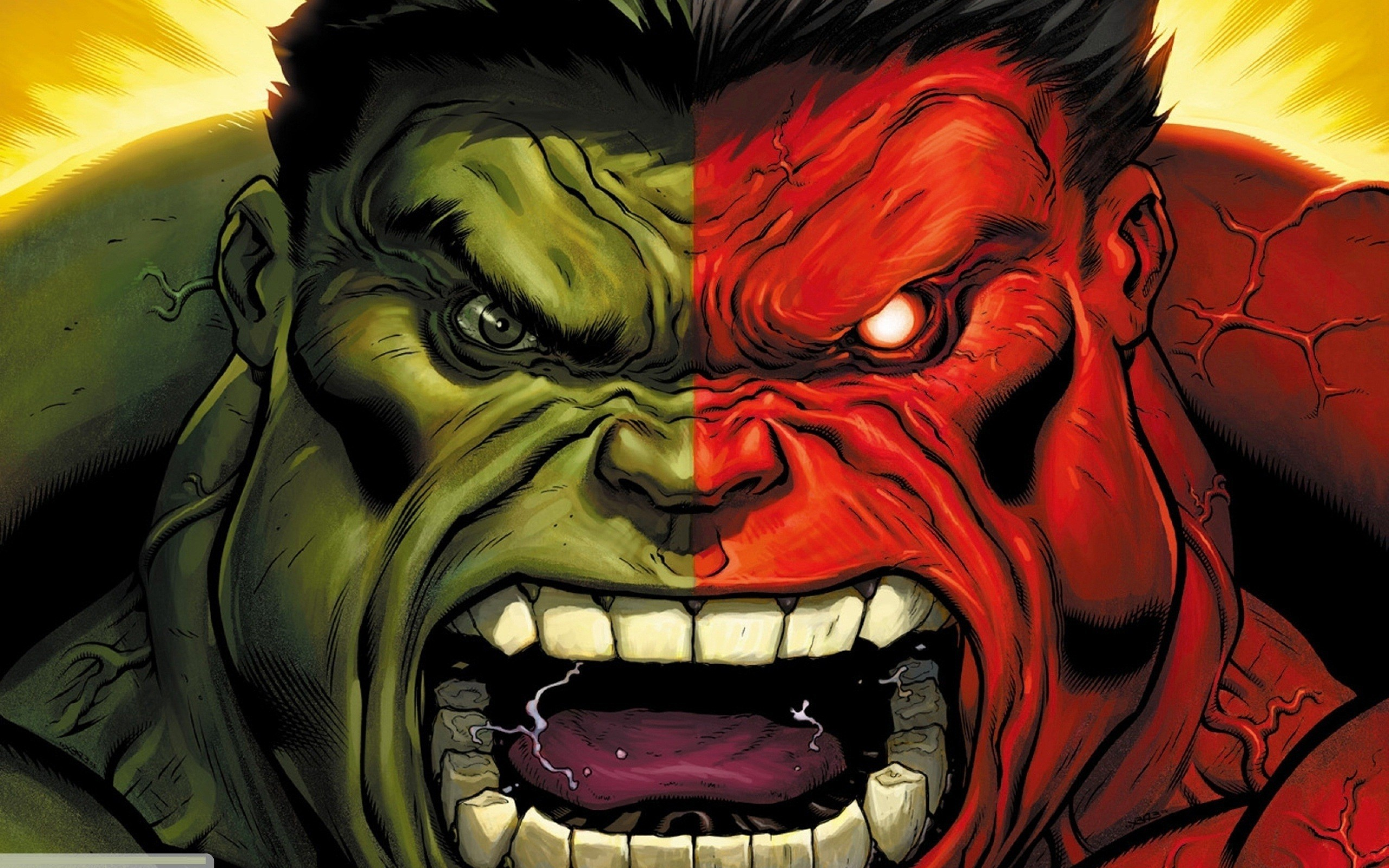 Green hulk comic character comics marvel red wallpaper 2560x1600