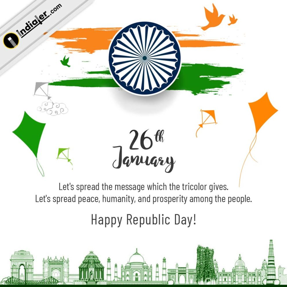 Republic day   26 January background with beautiful designs   Indiater 990x990