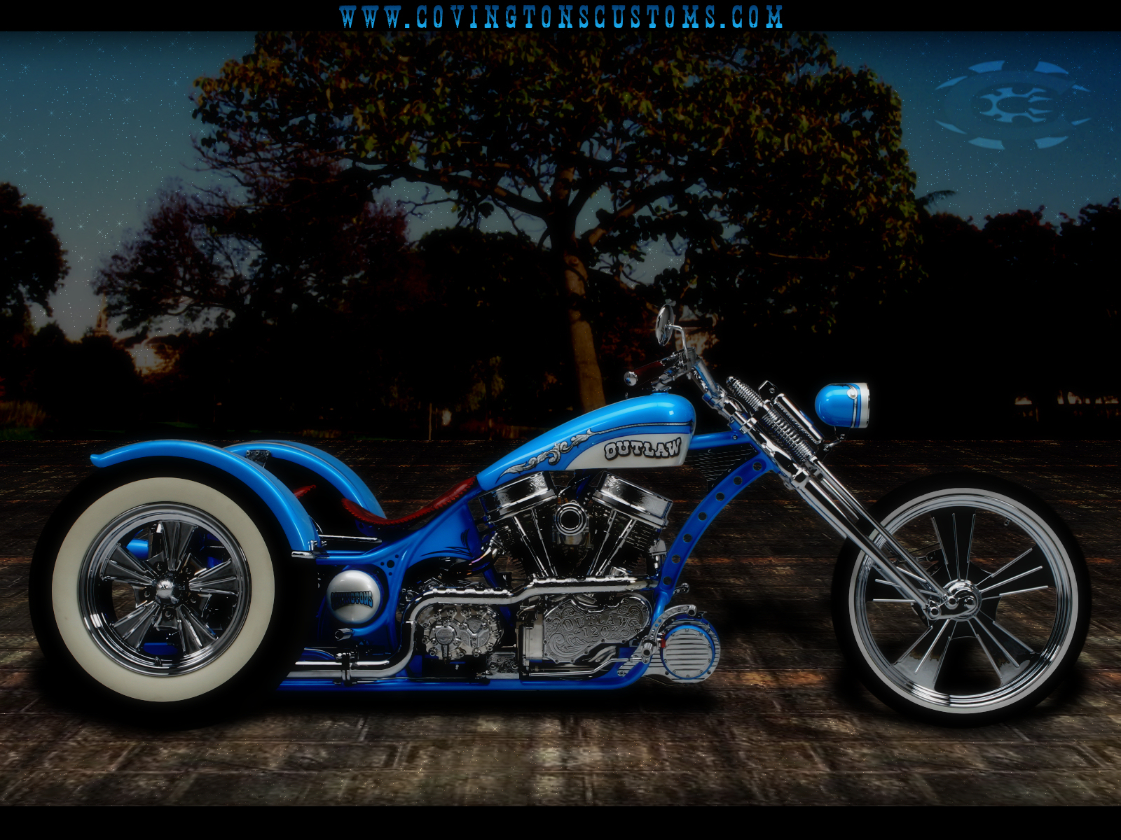Outlaw Custom Trike Motorcycle by random667 on deviantART 1600x1200
