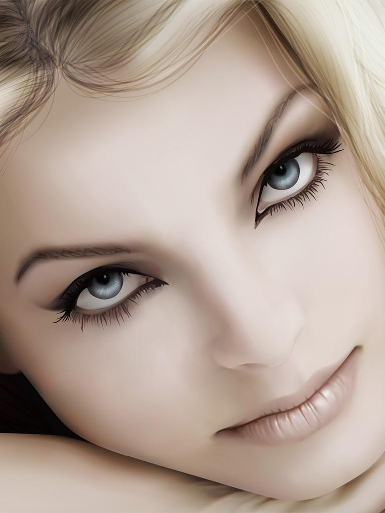 Vector   Most Beautiful Face   iPad iPhone HD Wallpaper 768x1024
