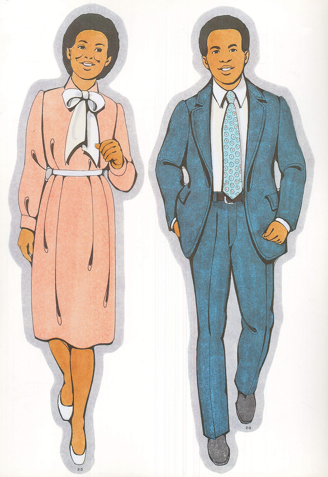 Primary Visual Aids Cutout 2 3 Black Mother and Father 1101x1600