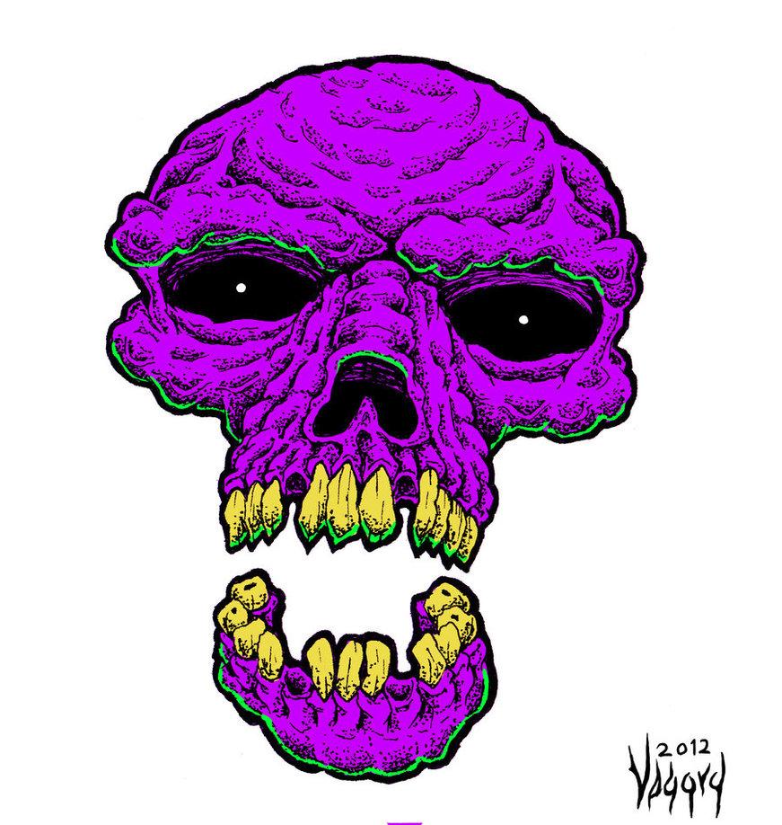 Free Purple Skull Mobile Wallpapers - WallpaperSafari
