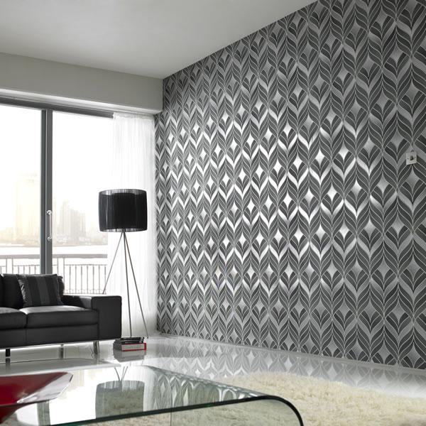 silver metallic wallpaper 600x600