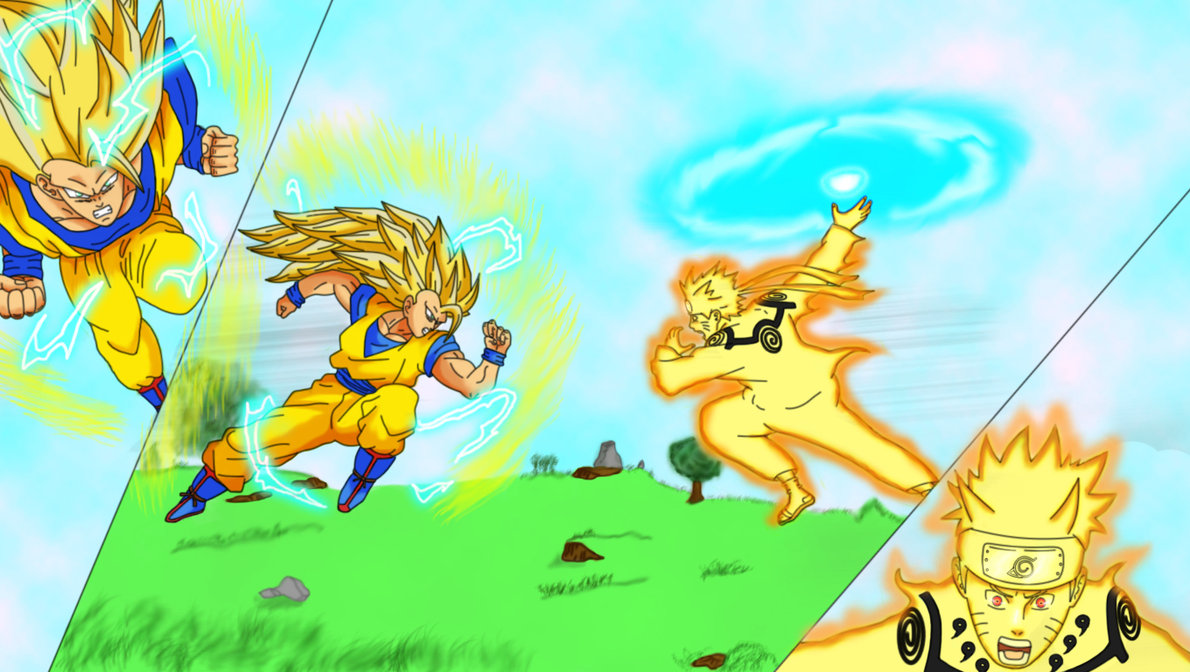 Goku VS Naruto by HayabusaSnake 1190x672