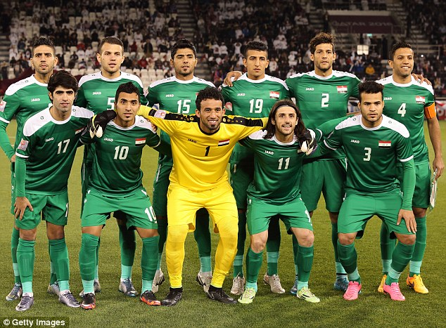 IRAQ NATIONAL FOOTBALL TEAM pictures download 634x467