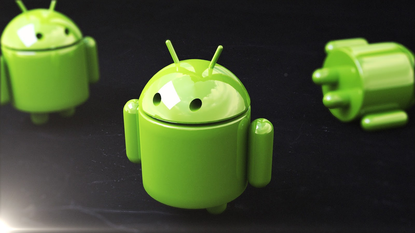 green robot android wallpaper 03 linux wallpapers 1600x900
