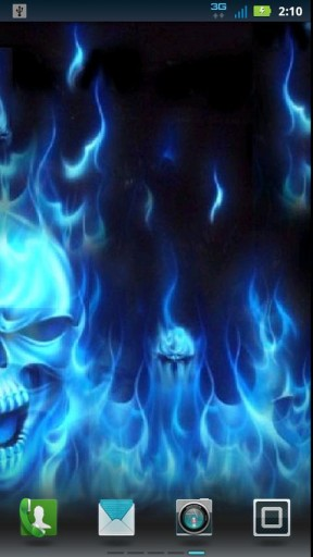 blue fire skull live wallpaper one of the best blue flaming skulls out 288x512