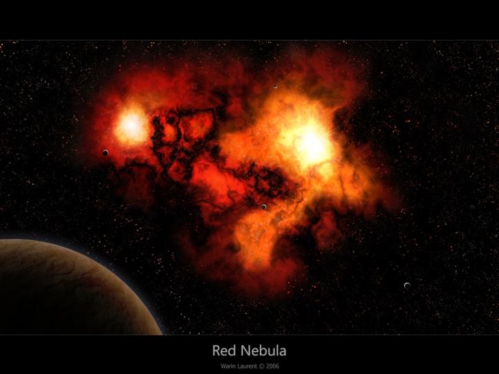 red nebula   Fonds dcran art digital gratuits [ red nebula 722x541