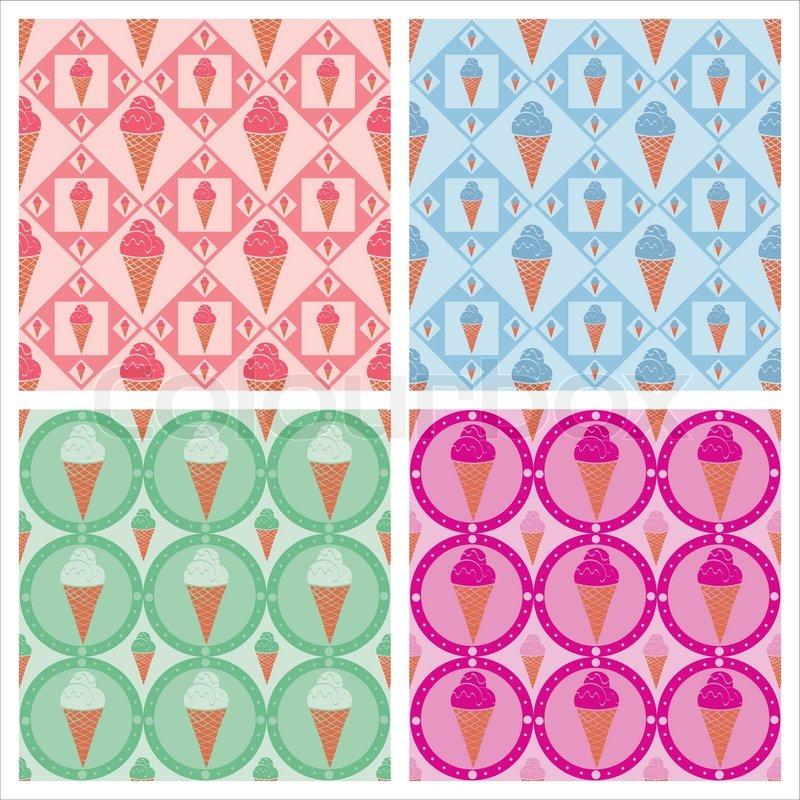 Melting Ice Cream Simple Wallpaper Designs: Cute Ice Cream Wallpaper