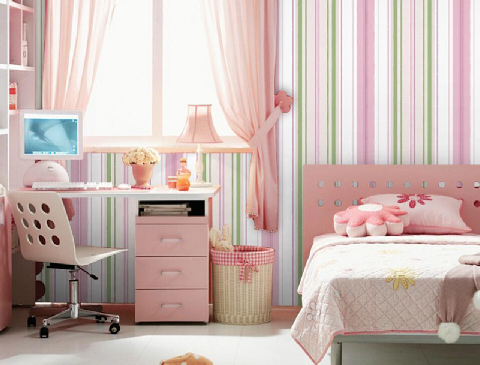 Pink Striped Wallpaper for Bedroom - WallpaperSafari