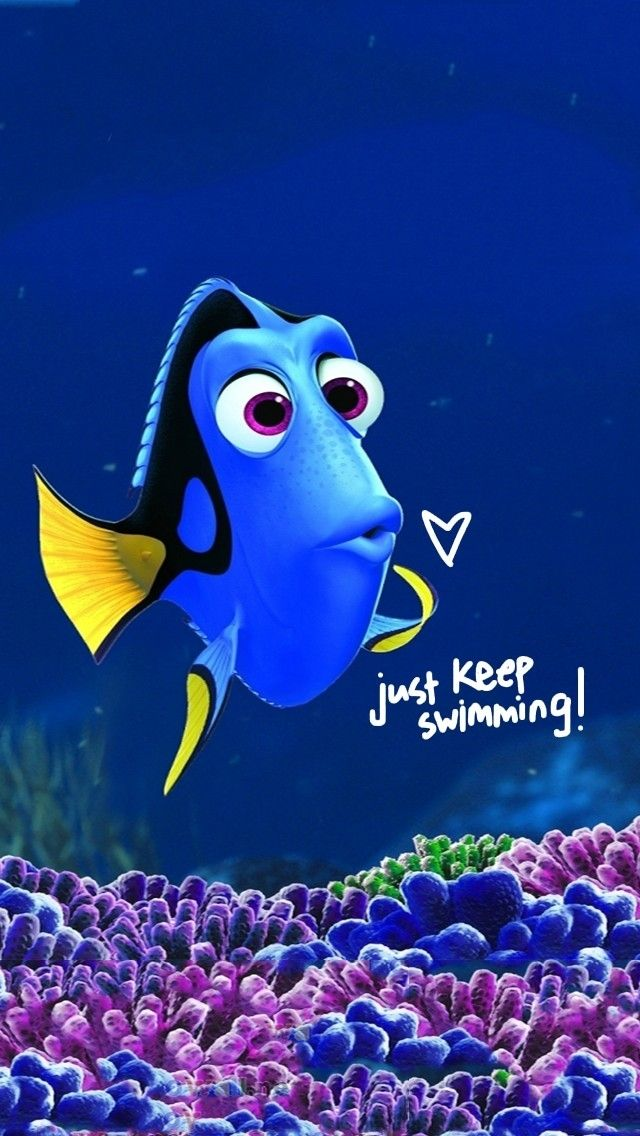Disney Iphone Wallpaper Keep Swimming Disney Wallpaper Disney Phone 640x1136