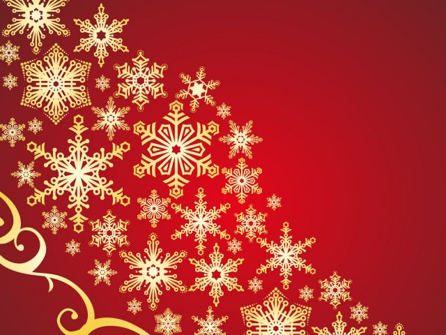Holiday Snowflakes Pattern desktop wallpaper 640x480