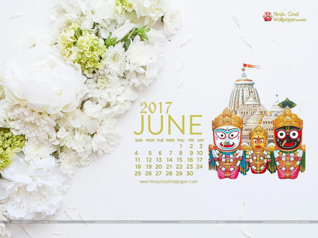 Desktop Calendar Wallpaper June 2017 Download 1024x768