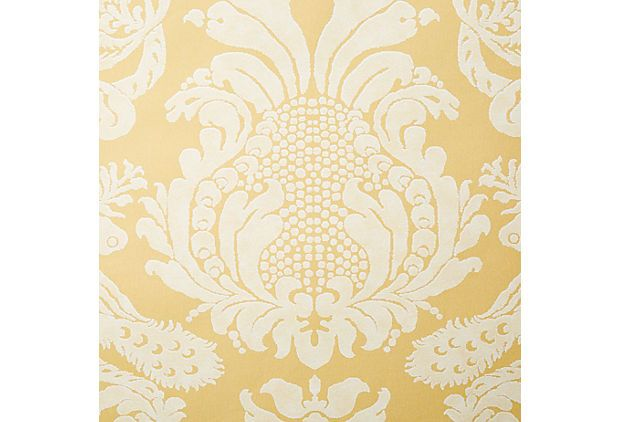 One Kings Lane   The Layered Look   Amazon Wallpaper Gold 620x422