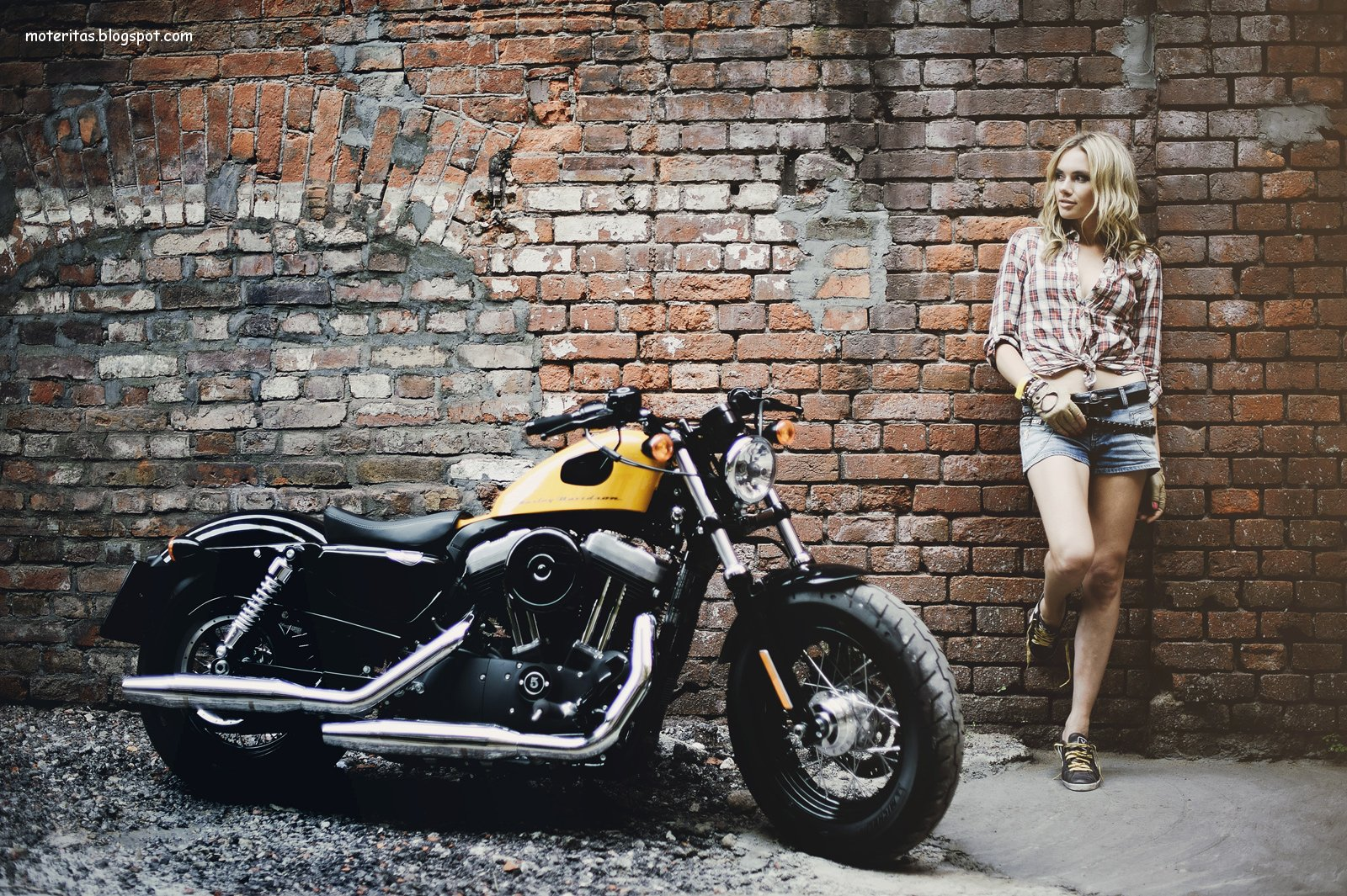 Motos y mujeres resolucin HD Harley Davidson Forty Eight sportster 1600x1065