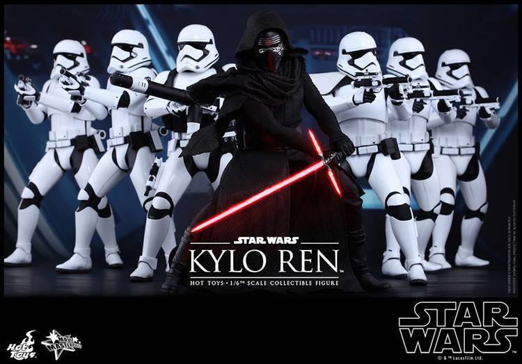 Hot Toys THE FORCE AWAKENS Kylo Ren and Stormtrooper Action Figures 750x524