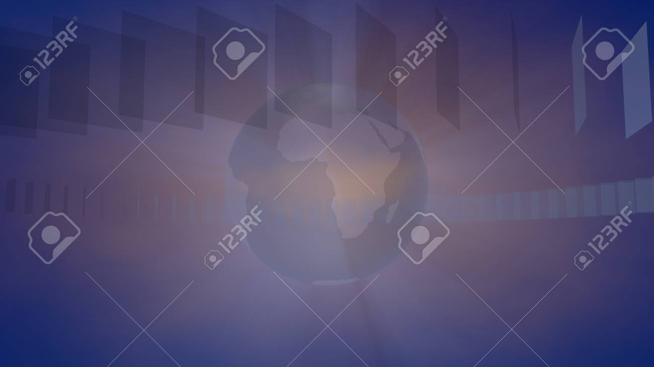 Blue yellow Broadcast Background 3d Rendering Stock Photo 1300x731