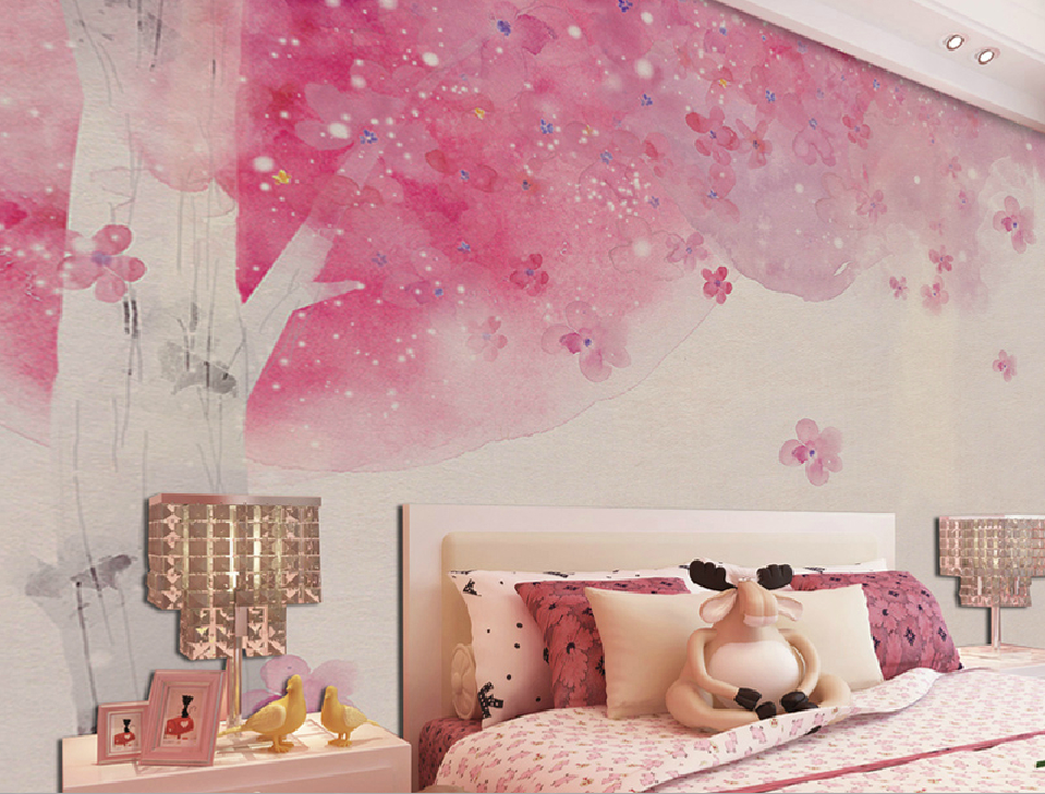 Romantic Pink Wallpaper For Girls Bedroom Warm With 959x729