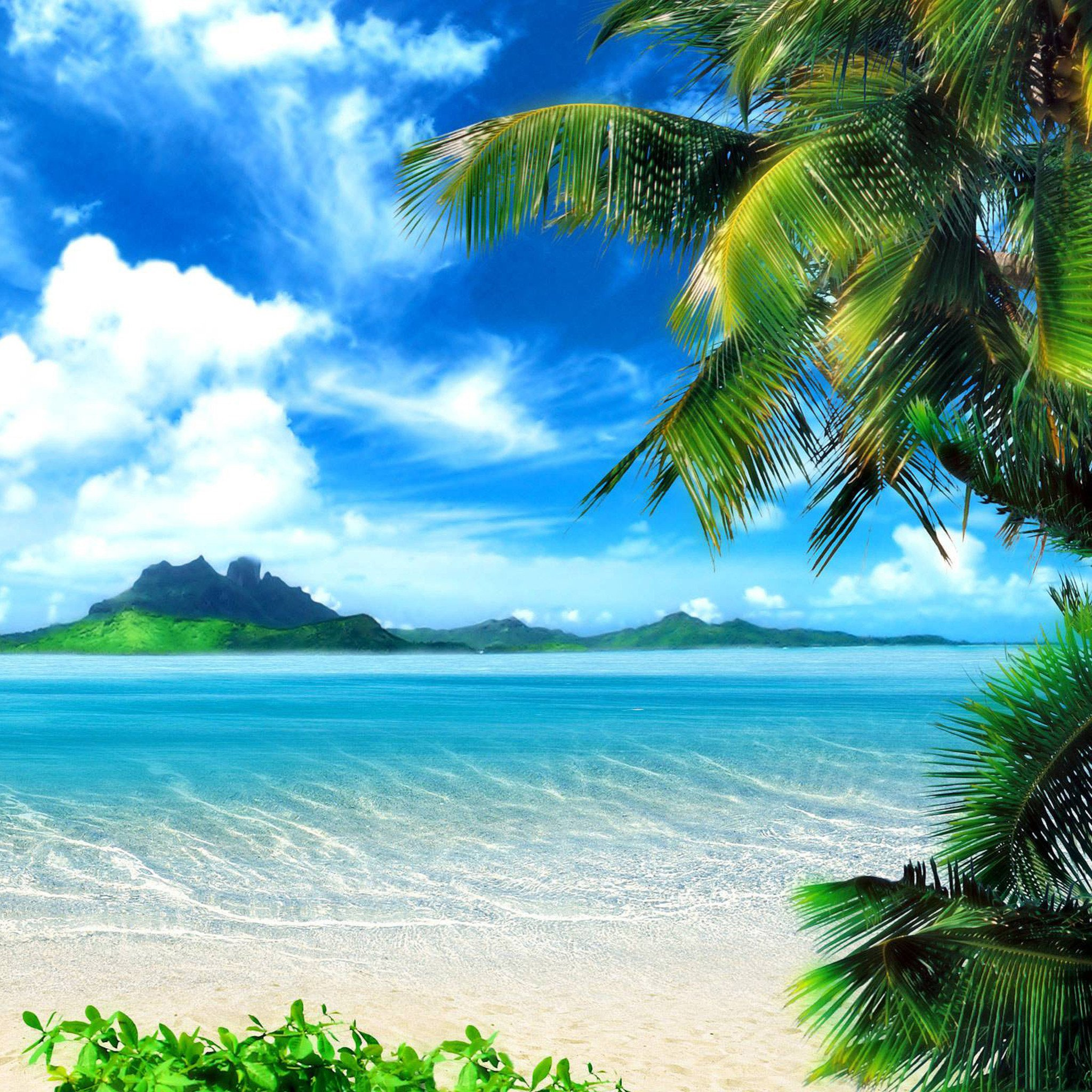 Beach With People Wallpaper Beach with people wallpaper 2048x2048
