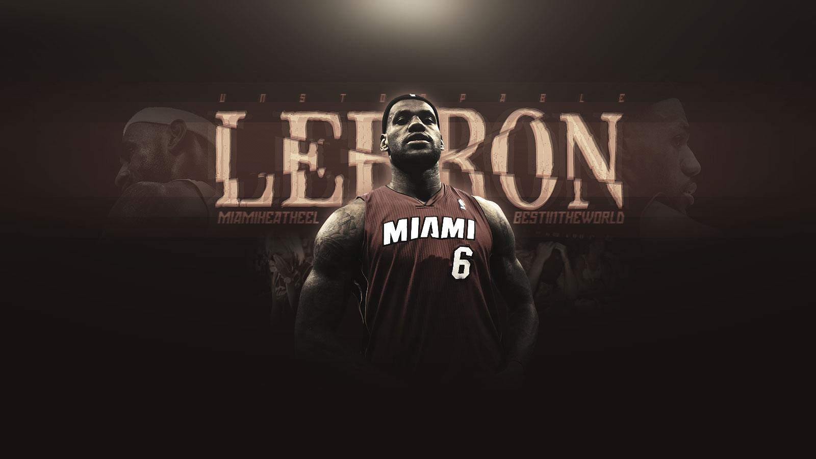 LeBron James Miami Heat 1600x900 Widescreen Wallpaper 1600x900