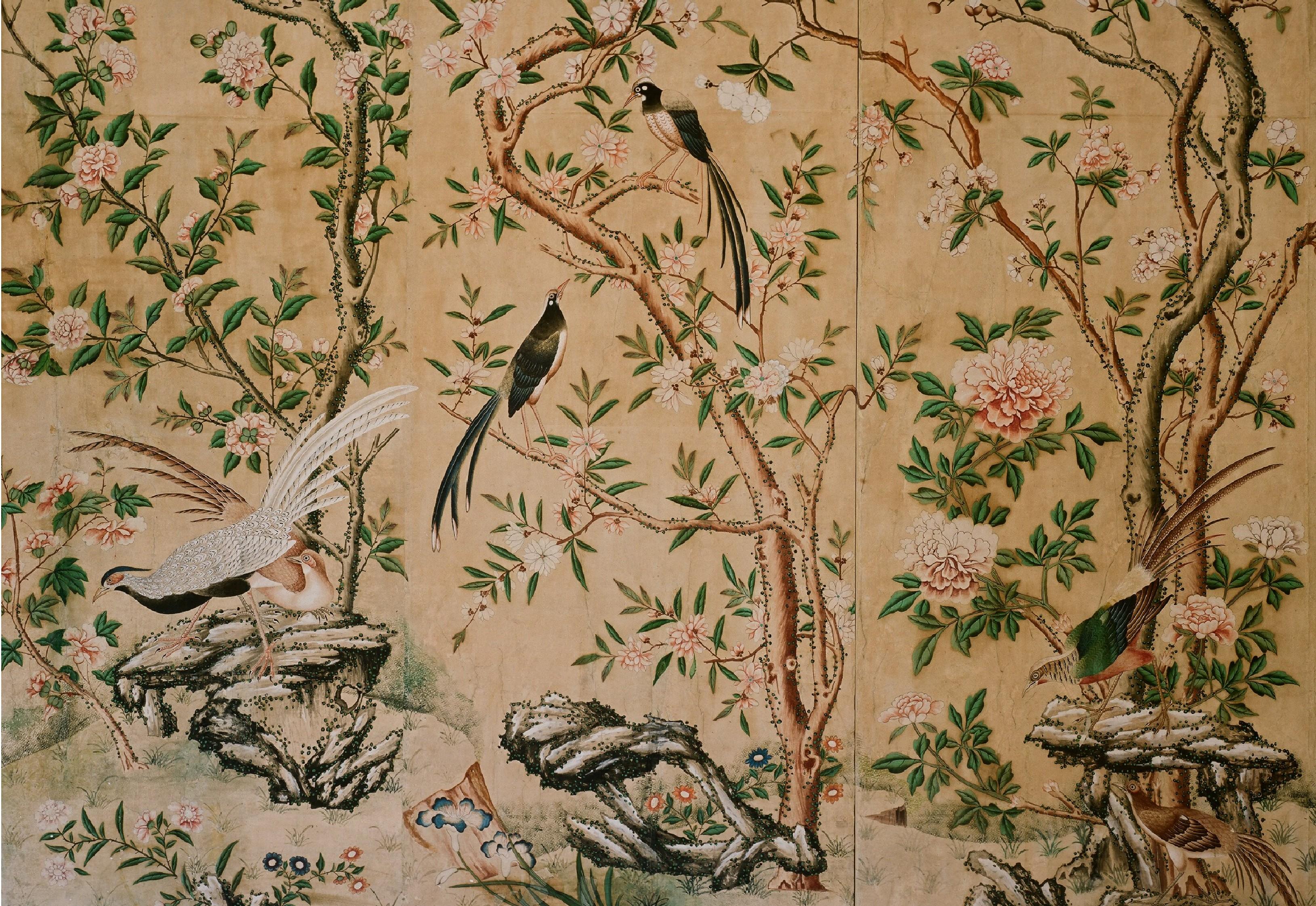 Chinese Wallpaper in Schloss Hellbrunn near Salzburg 3258x2242