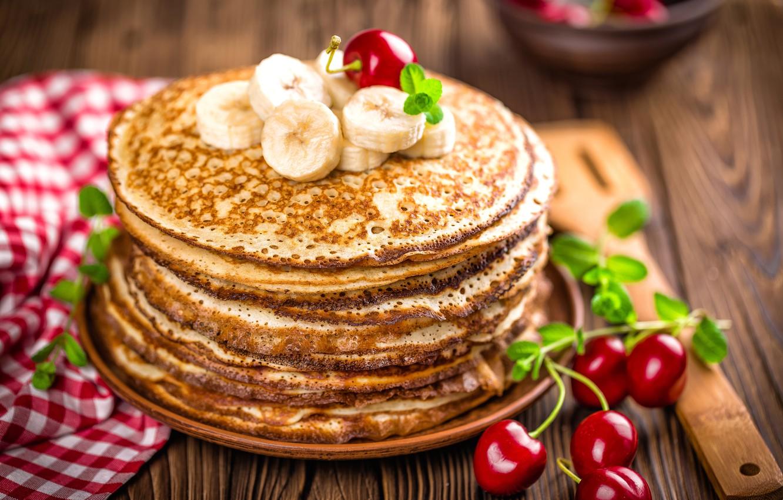 Wallpaper bananas pancakes cakes jam banana pancakes images 1332x850