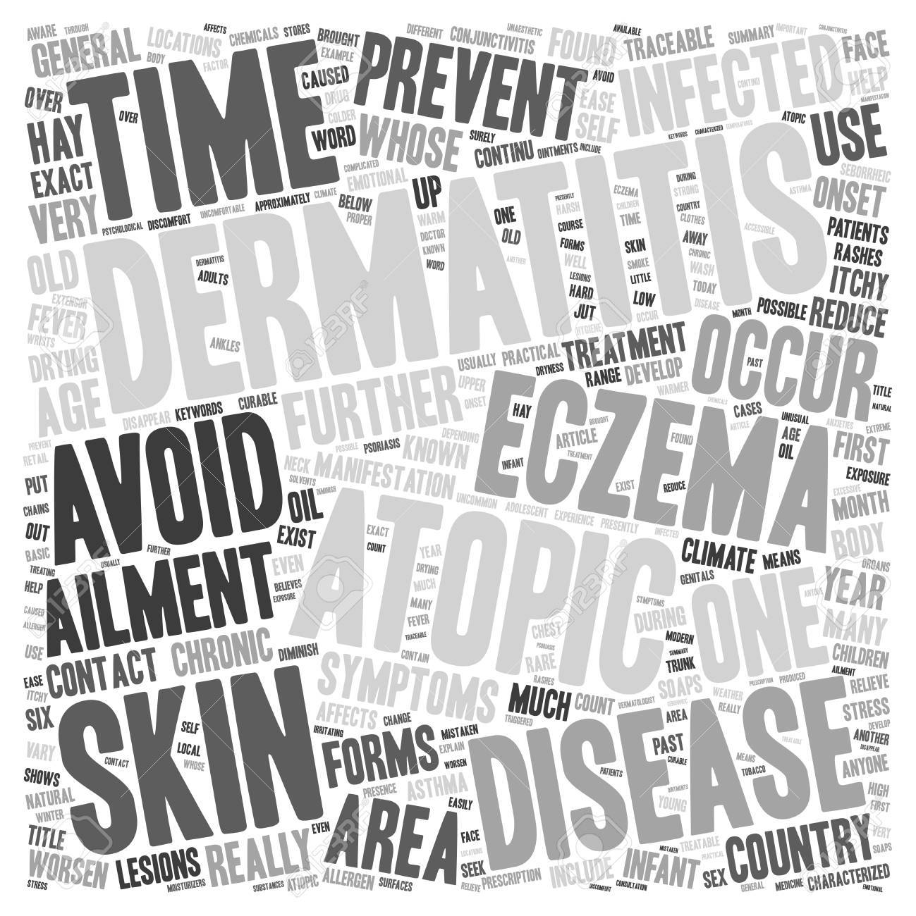 Eczema Or Atopic Dermatitis Anyone Text Background Wordcloud 1299x1300
