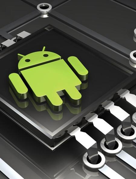 Android Logo Computer Chip Wallpaper for Phones and Tablets 450x590