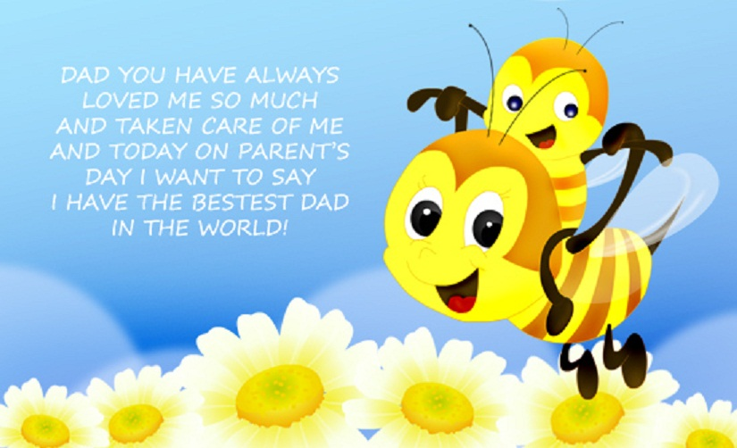 Best Dad Wallpaper Greeting Card of Parents Day 825x502