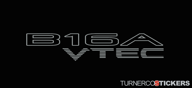 download 2x B16A VTEC honda stickers Decals For DOHC Honda 4299x1984