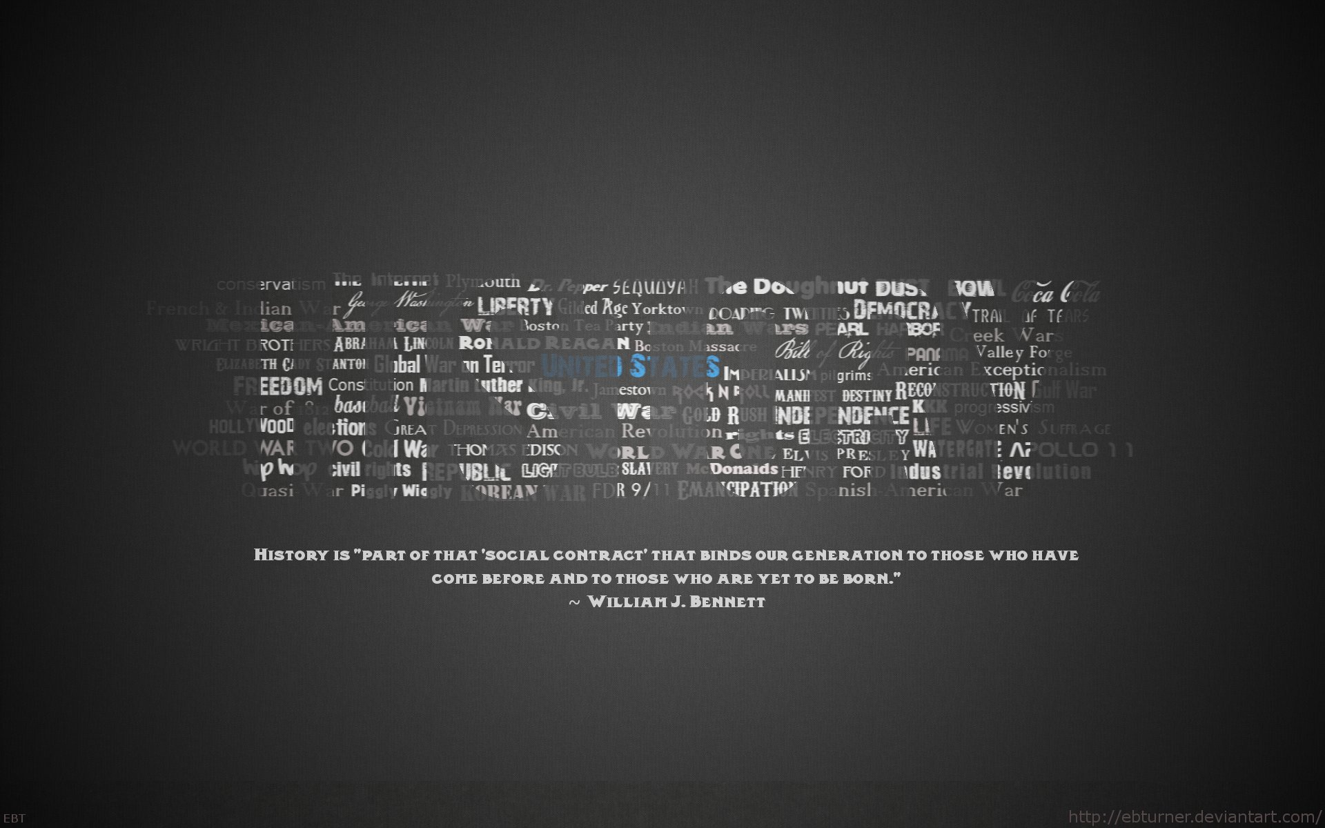 History Typography Wallpaper by ebturner 1920x1200