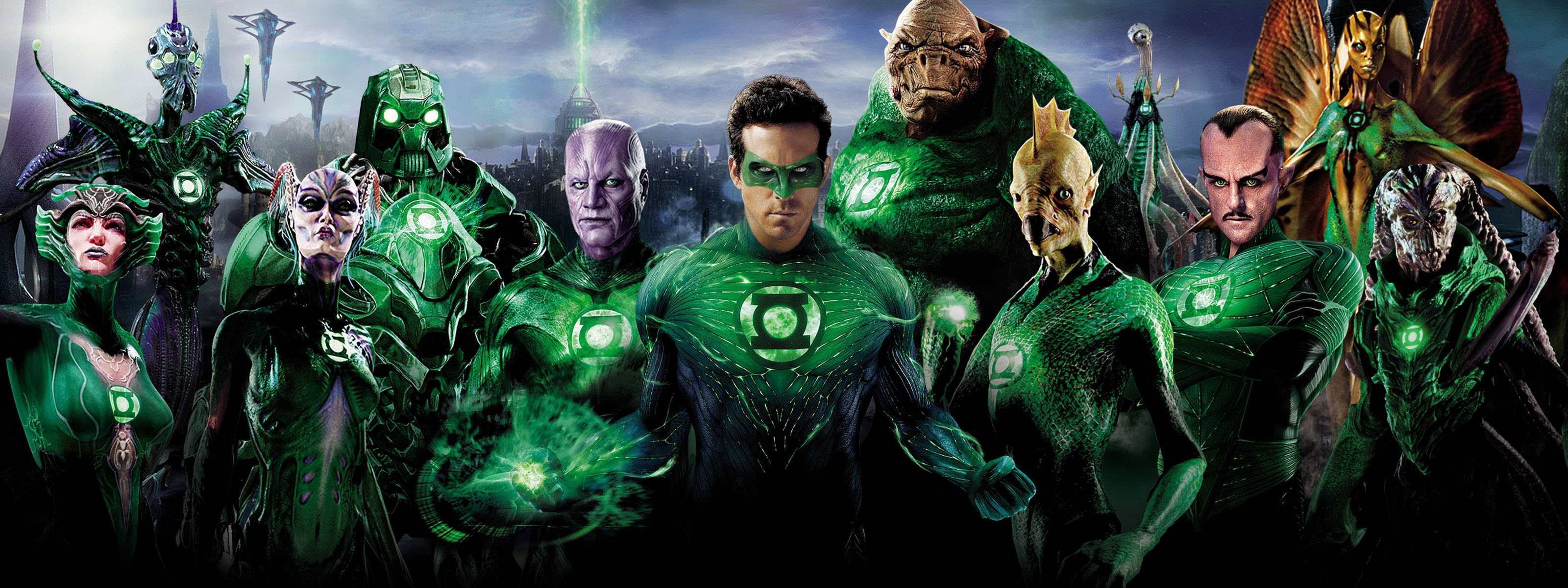 Green Lantern Superheroes Wallpapers HD Wallpapers 3200x1200