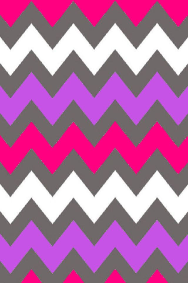 pink and white chevron wallpaper pattern 640x960