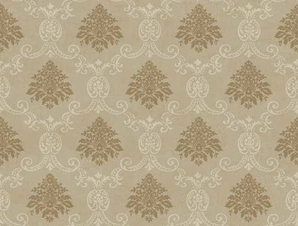 Taupe Document Damask Wallpaper   Wall Sticker Outlet 600x456