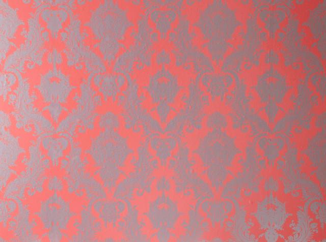 Damsel Removable Wallpaper Coral contemporary wallpaper 640x476