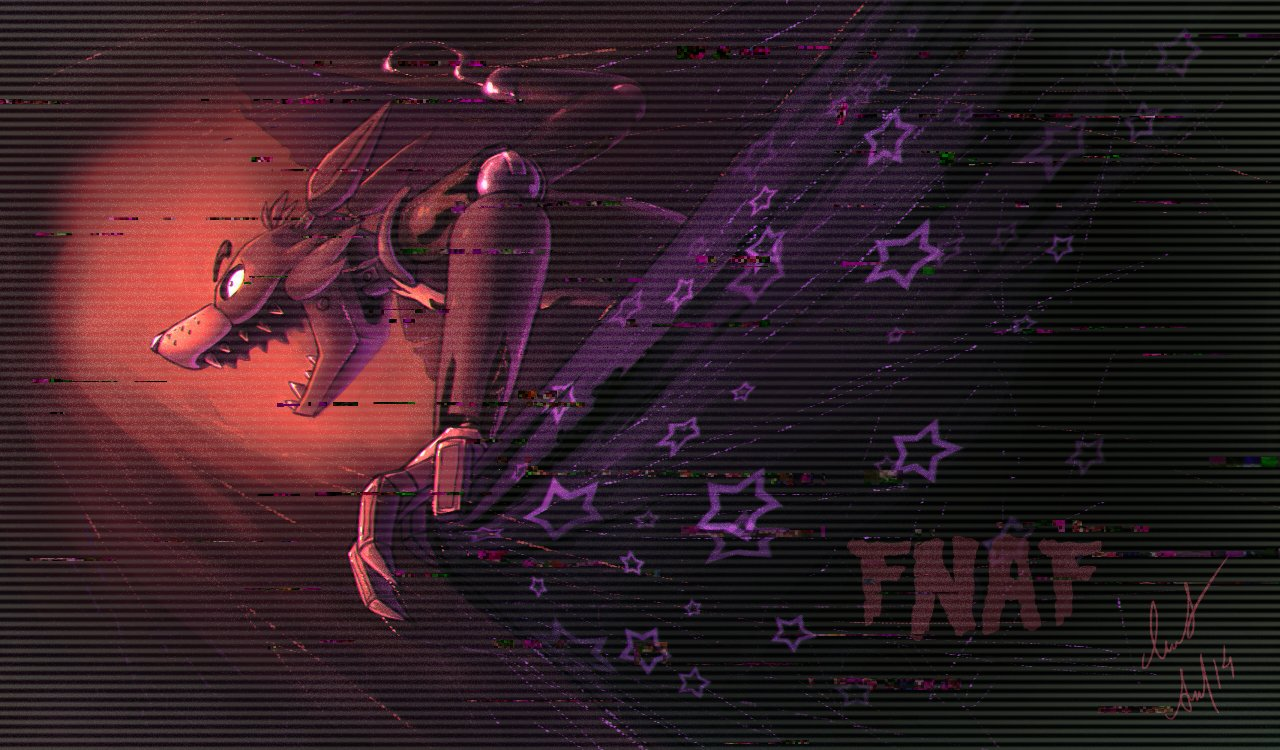 FNaF   Foxy by Ann Nick 1280x750