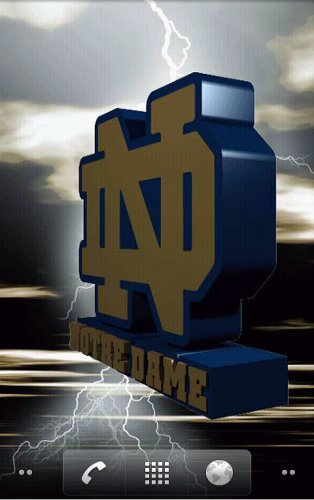 Notre Dame Fighting Irish Live Wallpaper   Amazon Mobile Analytics and 314x500