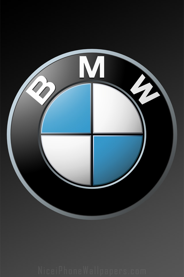 BMW logo HD wallpaper for iPhone 44s 640x960