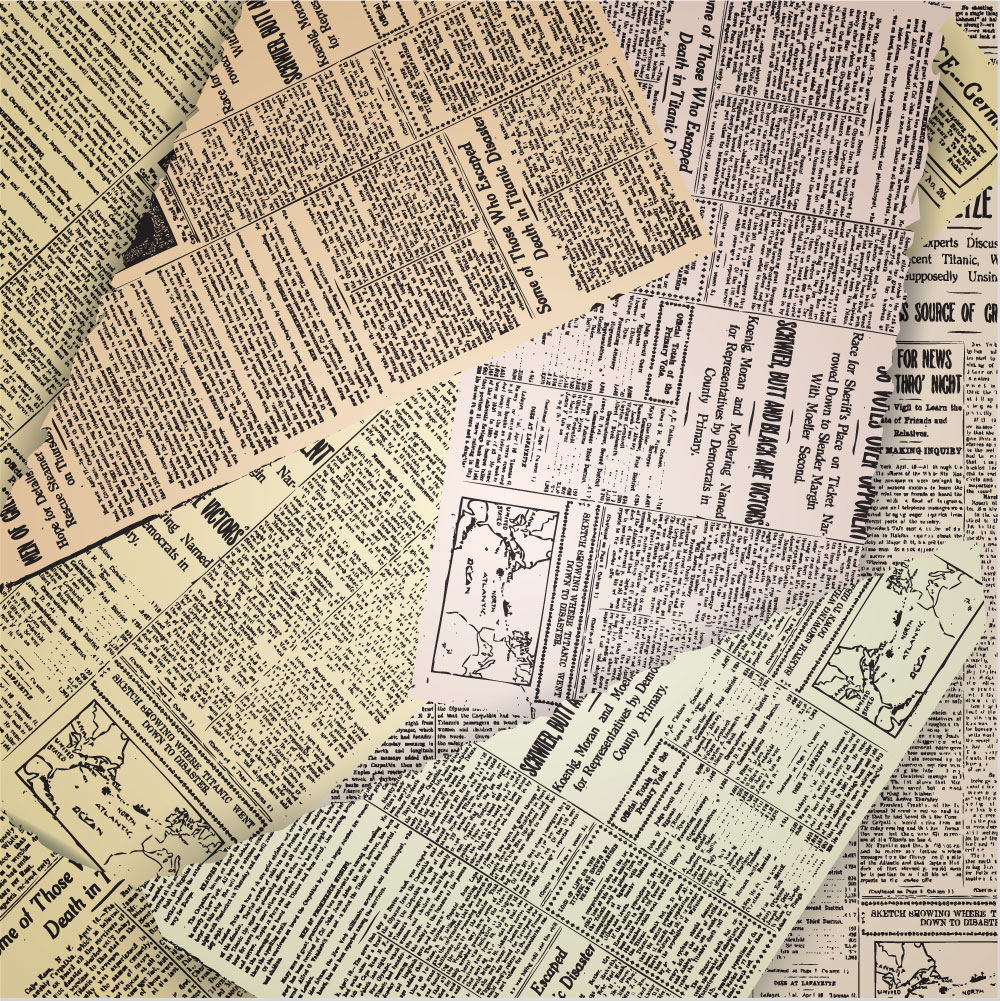 Old Newspaper Vintage Background Wall Mural ohpopsi Wallpaper 1000x1001