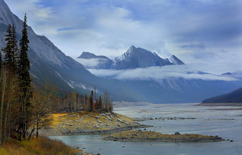 Wallpaper Alberta Canada Medicine Lake Jasper Park Lodge images 1332x850