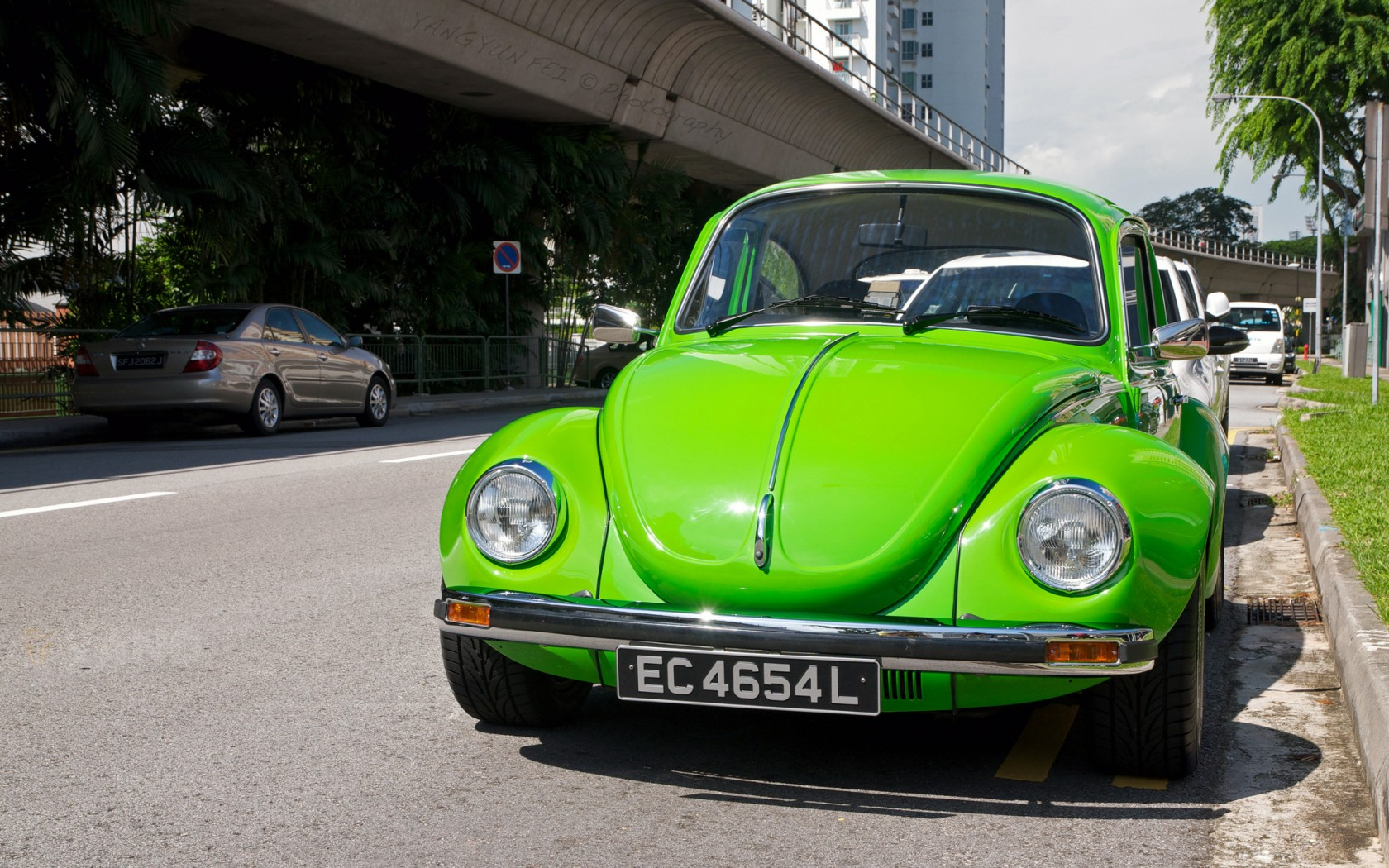 Green Volkswagen Beetle Wallpaper   HD 1680x1050