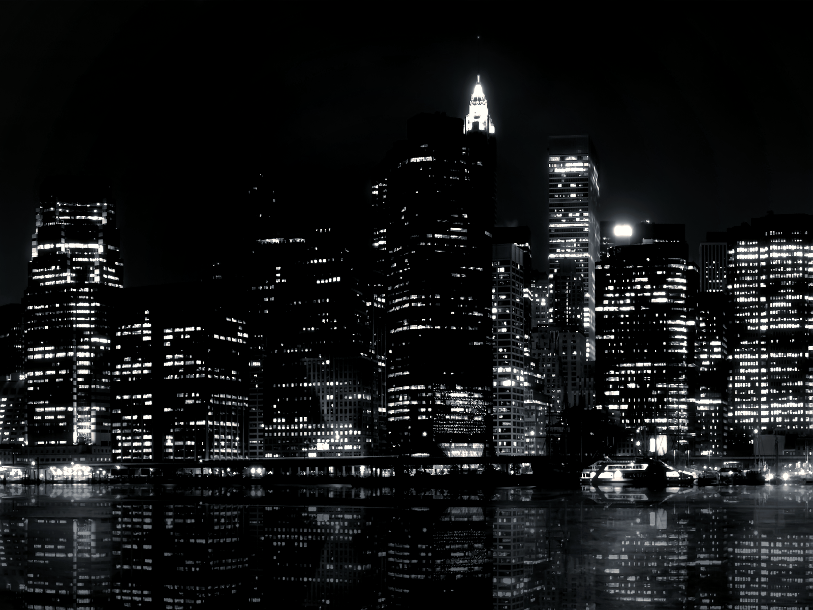 Black and White City Wallpapers Wallpaper Mansion 1600x1200