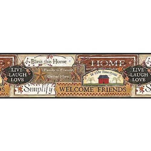 Black Country Signs Wallpaper Border Home Improvement 500x500