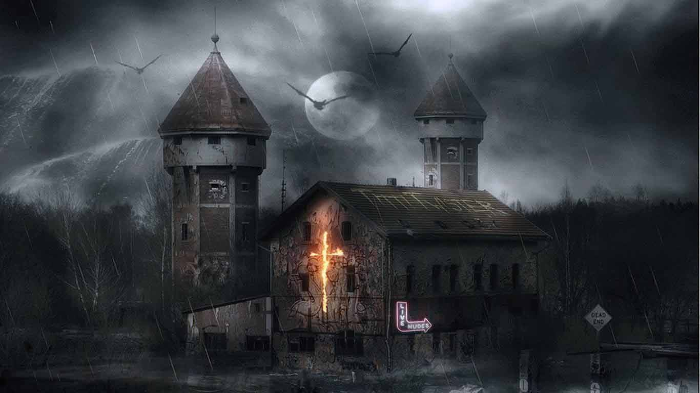 Haunted house hd wallpaper wallpapersafari for Quality wallpaper for home