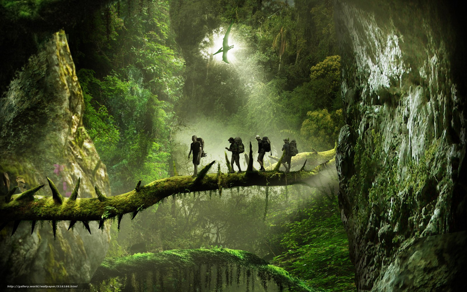 wallpaper nature The Dinosaur jungle desktop wallpaper 1600x1000