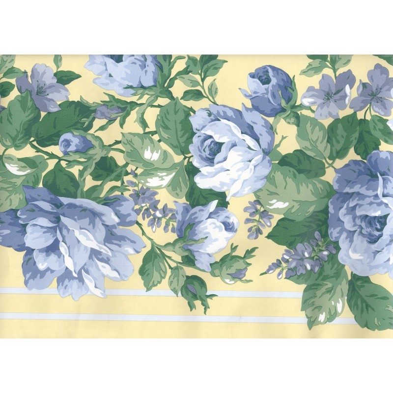 Home Floral Wallpaper Border in Blue Yellow CR3363 by Imperial 800x800