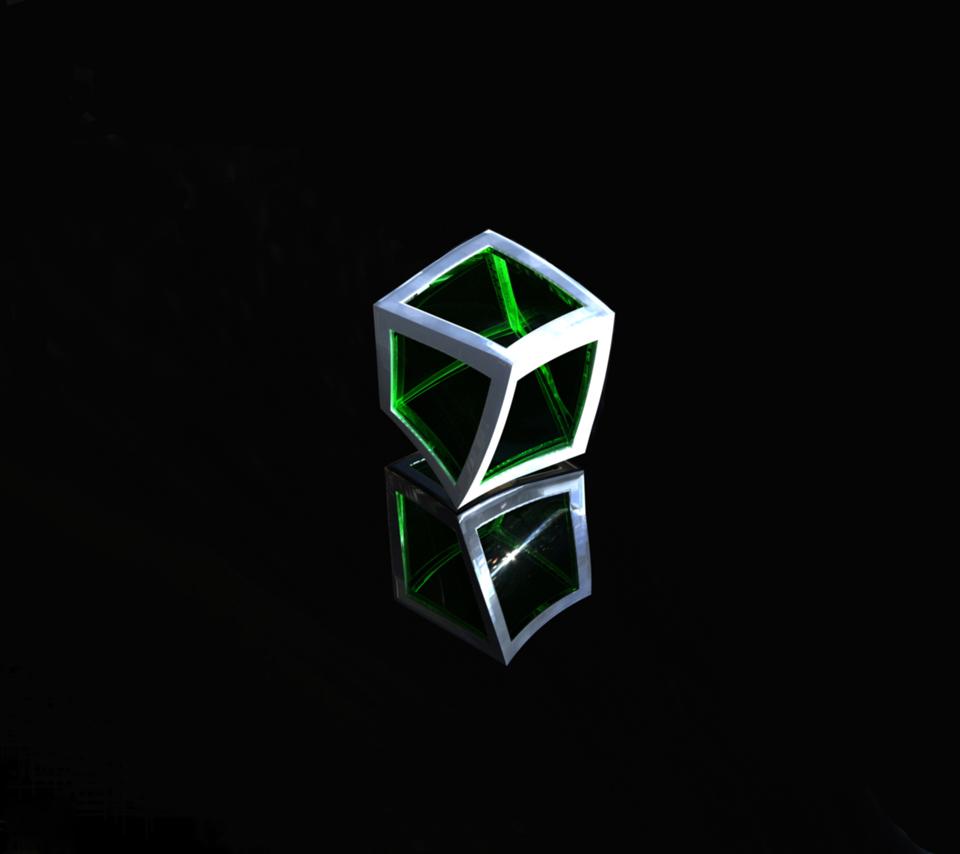 3Dcubedarkblackreflectionwallpaperbackground 960x854
