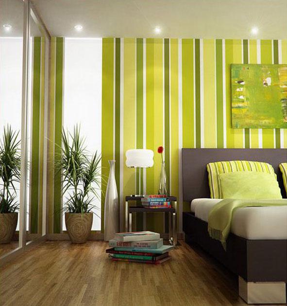 Green Bedroom 591x629