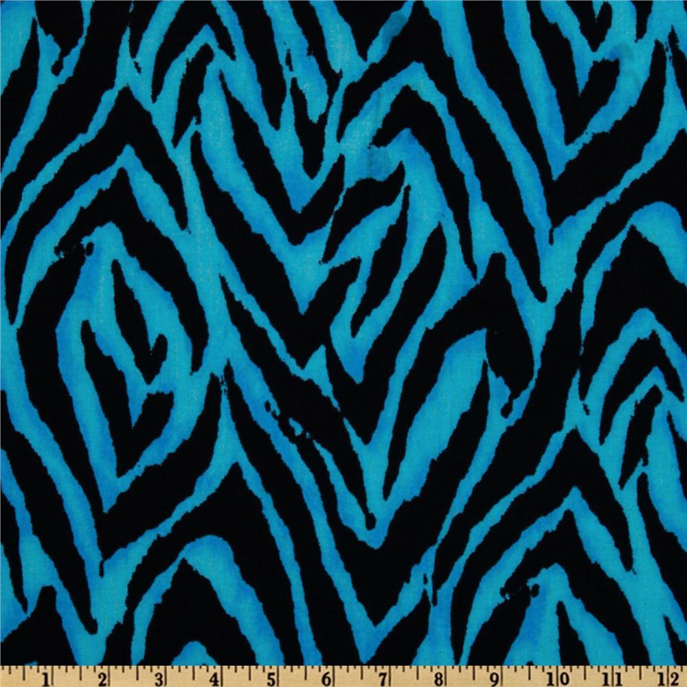 Animal Print Zebra BlueBlack   Discount Designer Fabric   Fabriccom 1000x1000