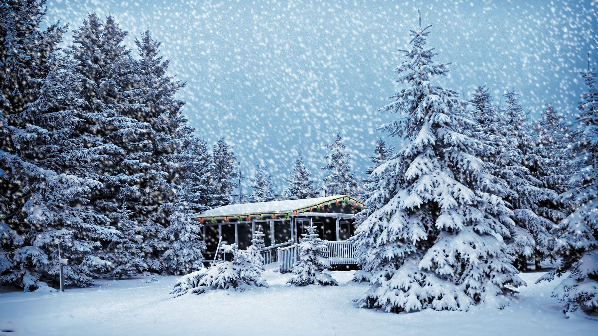 Christmas Snow Scene Wallpapers 1920x1080